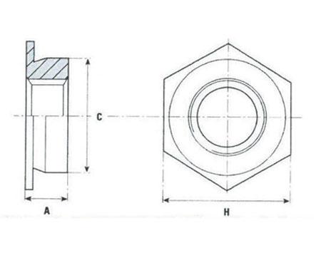 Plan-Ecrou-noye-a-sertir-serie-ipf