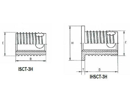 Plan-Insert-auto-taraudeur-a-trois-trous-serie-isct-3h-ihsct-3h